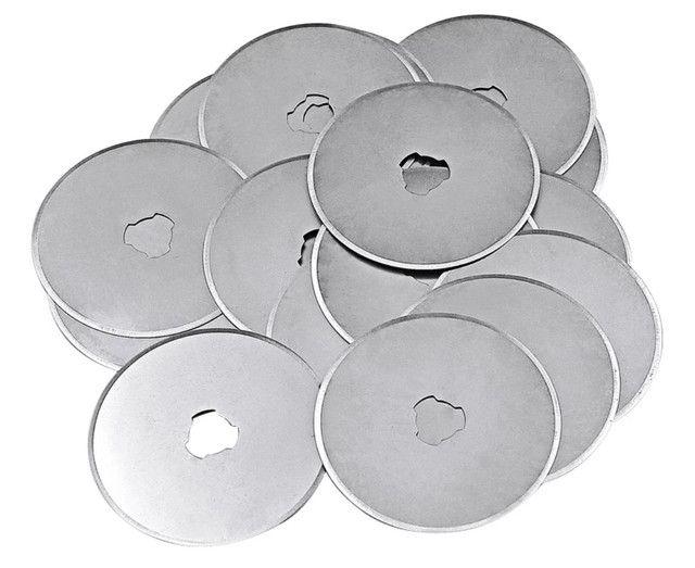 Lâminas circulares p/estilete rotativo 45 mm ultra afiadas venda de 1 ou 5 unidades - Foto 5