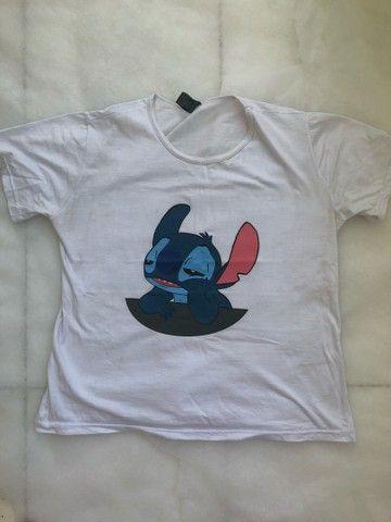 camisa feminina estampada - Foto 2