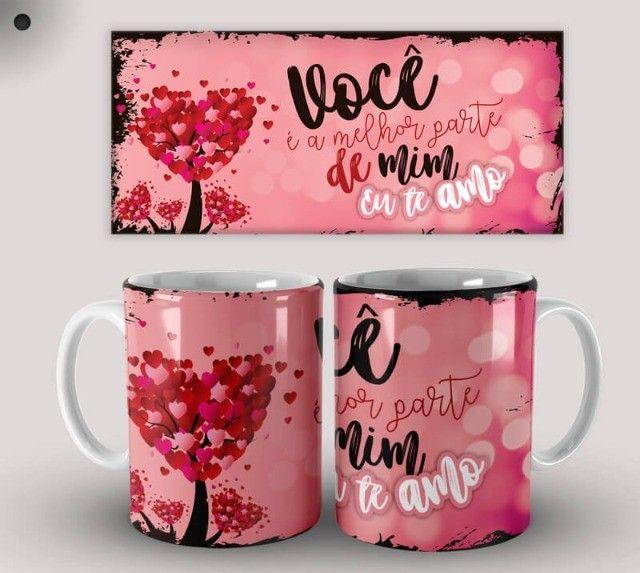 Par de Canecas de Cerâmica Dia dos Namorados (Promoção) - Foto 4