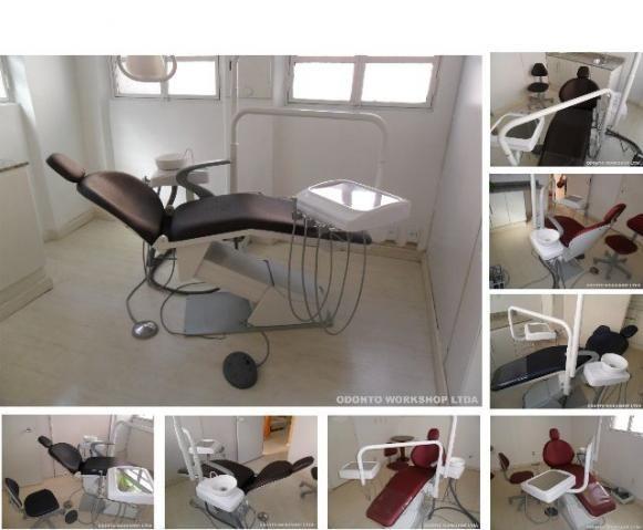 Consultório (cadeira) odontológico Dabi encosto largo reformada