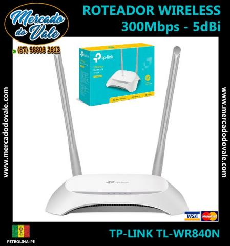 Roteador Wireless - 300mbps - 2 Antenas 5dBi - TP-LINK