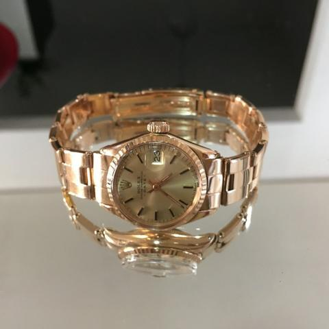 2b4df55d3bb Relógio Rolex Presidential Ladies Raro Todo Ouro Maciço 18kl ...