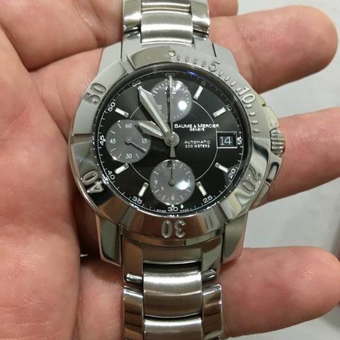 1e33412ef3e Relógio BAume   Mercier Automático Cronógrafo Novo Zero Vale 15 mil ...