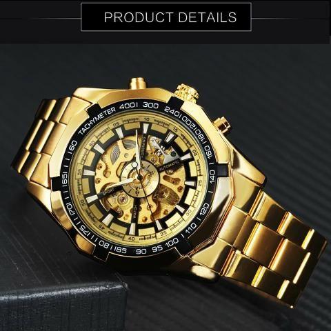 6b342e18411 Relógios Winner automático masculino a prova d agua original ...