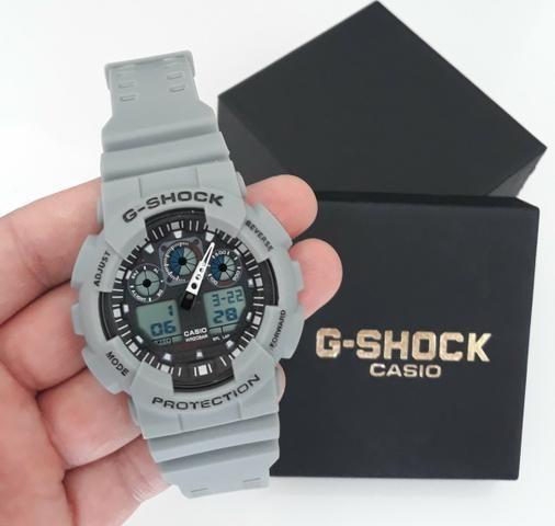 4a1074bead1 Relógio G Shock Casio Na Cor Cinza NOVO - Bijouterias