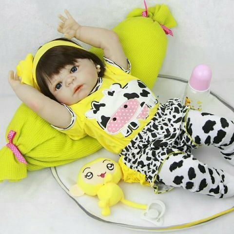 26fd5ff4e3c6 Boneca bebê Reborn silicone pode dar banho receba hoje entrega gratuita  da8whs