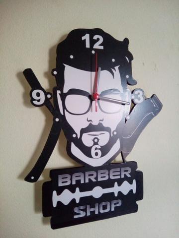 Relógio barbearia