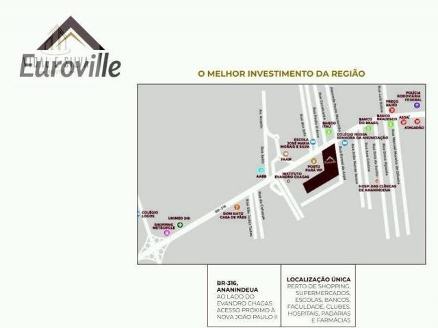 Condomínio euroville, terrenos, lotes residenciais, 160m² à 365m² - centro - ananindeua/pa - Foto 9