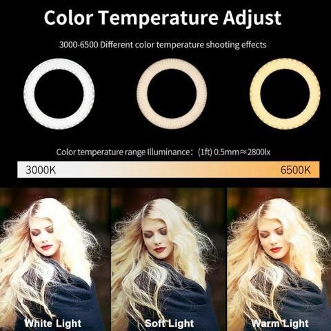 Entrega Grátis!!! Ring Light Foto Make Tripé 2 metros Iluminador Led Com Garantia - Foto 7