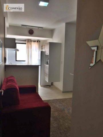 Apartamento com 1 dormitório para alugar, 30 m² por R$ 1.225,00/mês - Centro - São Carlos/ - Foto 2