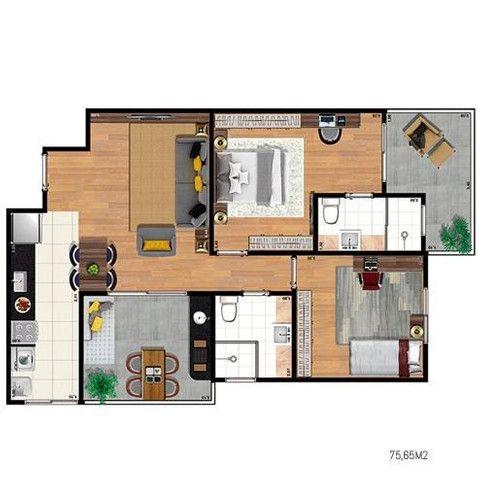 Easy Home 1 dorm varanda Gourmet -J.d Aquarius - Localização Privilegiada - Foto 11