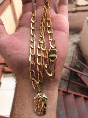 Cordão de ouro 18k maciço