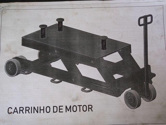 VENDO PROJETO DE CARRINHO DE TRANSPORTAR MOTOR DE ÔNIBUS E CAMINHÃO