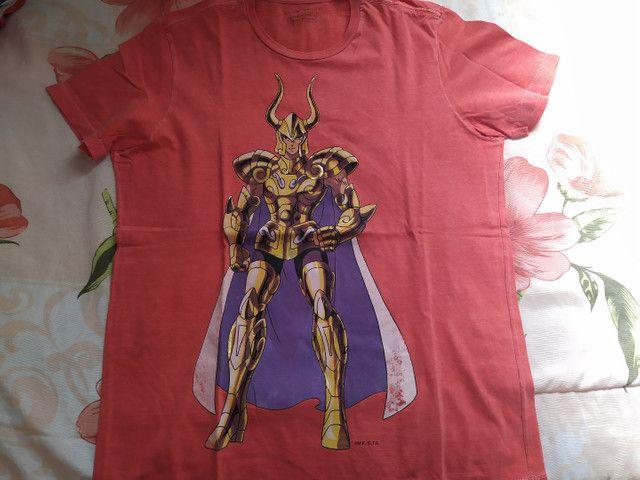 Camisa coleção cavaleiros do zodíaco