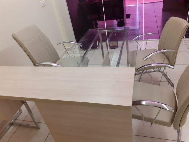 Jogo de mesa com cadeira para escritório  - Foto 2