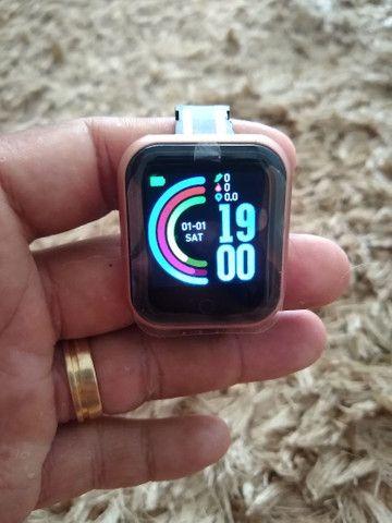 Smartwatch D-20 + pulseira grátis - Foto 6
