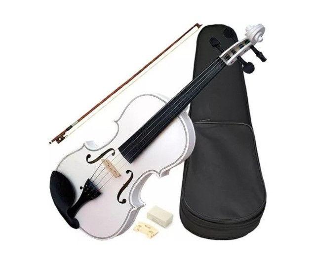 Violino Acoustic 1/4 Vdm14 Completo Branco