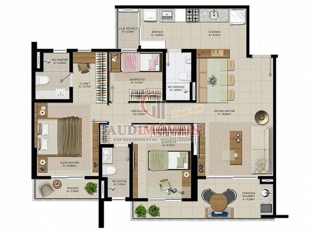Apartamento para venda possui 90 metros quadrados com 3 quartos em Guararapes - Fortaleza  - Foto 7