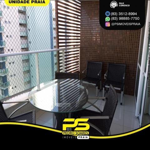 Apartamento com 3 dormitórios para alugar, 157 m² por R$ 6.500/mês - Tambaú - João Pessoa/ - Foto 10