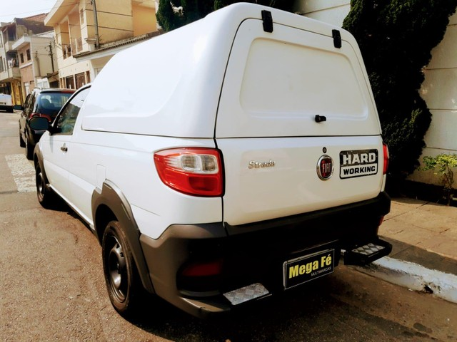 Fiat Strada Hard Working 1.4 Flex Branco Completo Com Bau Doc Ok - Foto 11