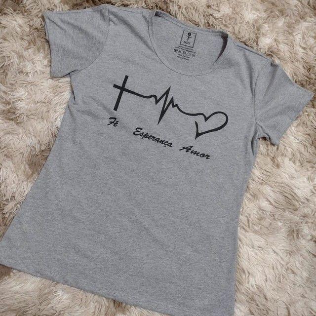 T-shirt Tamanho G Cor Cinza Blusa