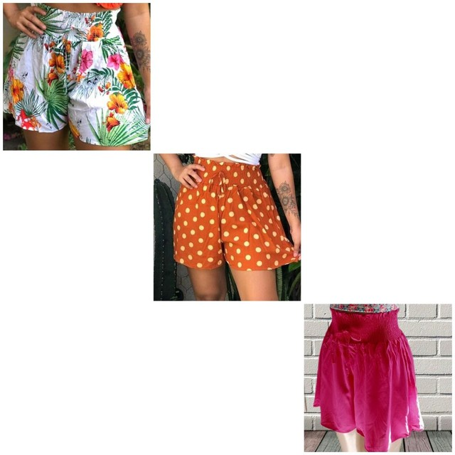 3 shorts( elastico na cintura Tam U) - Foto 2