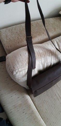 Bolsa de couro marrom  Le postiche  - Foto 2