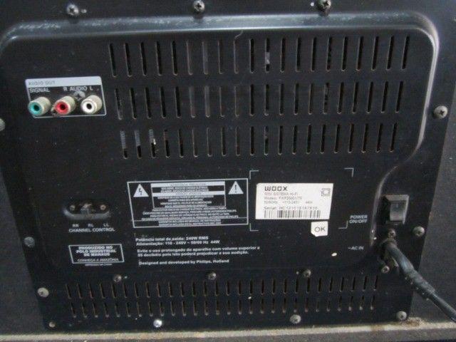 Mini System Philips Party Box usb aux 2 microfone bluetooth - Foto 2