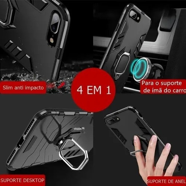 Capa 4 em 1 Anti Impacto Choque Militar Xiaomi Note 8T, aceito cartão - Foto 2