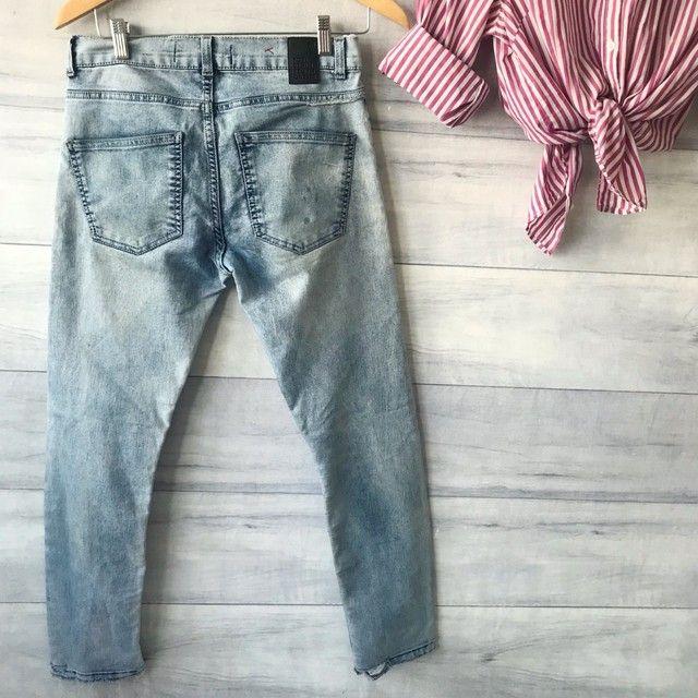 Calça Jeans Clara | Cintura Alta | Seminova | Brechó  - Foto 6