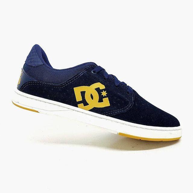 Tênis DC Shoes Plaza TC Couro Natural<br><br> - Foto 3