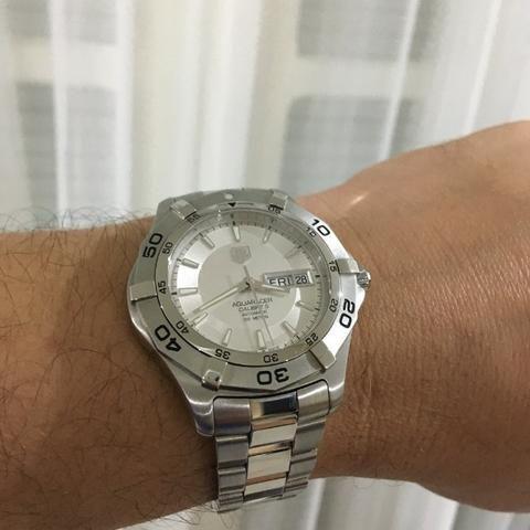 5cb3dc8f954 Relógio Tag Heuer Aquarecer 300 Day Date Automático Novo 100% Original