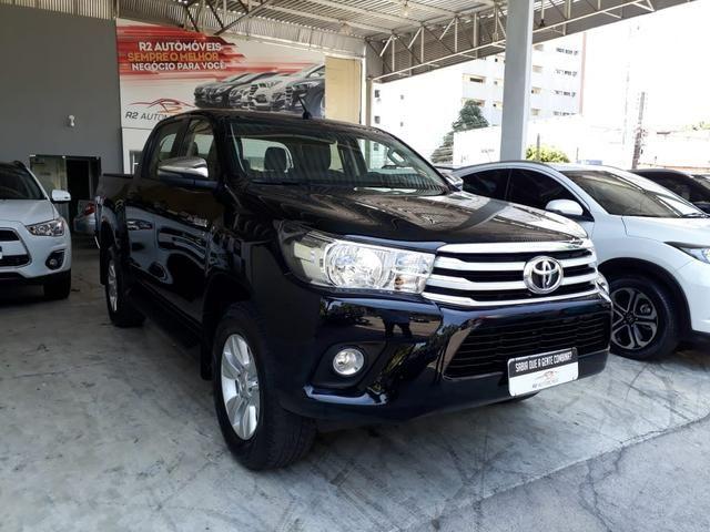 Toyota 2018 Hilux srv 4x4 2.7 Flex Automatico top de linha impecável confira - Foto 3