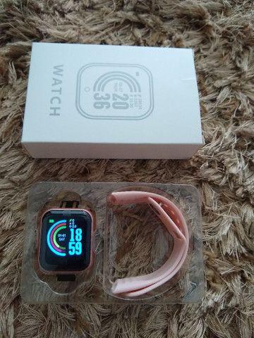 Smartwatch D-20 + pulseira grátis