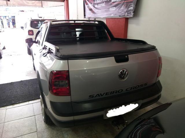 Vw Saveiro Cross Gnv troco carro ou moto maior ou menor valor e financi - Foto 5