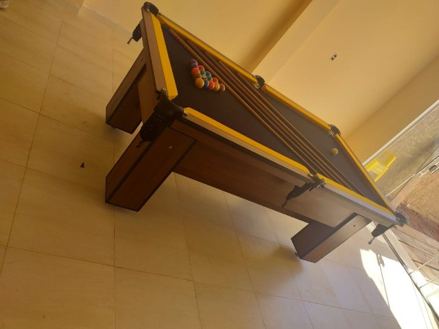 Mesa de Bilhar Charme Imbuia Tecido Preto Modelo GTR1245 - Foto 2
