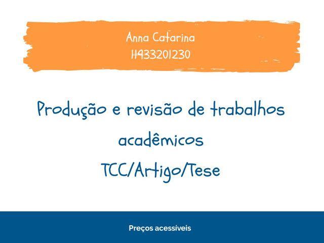 Trabalhos acadêmicos (TCC, artigo, tese...)