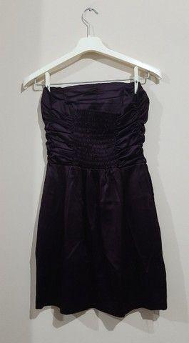 Vestido de festa plissado no busto + Bolero estampado - Foto 2