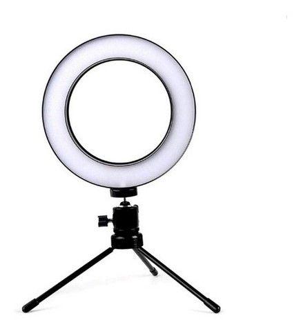 Ring Light Led Mesa Iluminador Pequena Tripé 6 Polegada 16cm - Foto 2