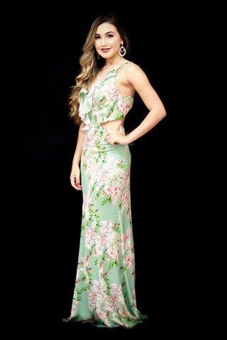 Vestido Dress Crepe estampando