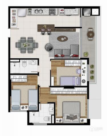 Apartamento à venda com 3 dormitórios em Centro, Ponta grossa cod:L114 - Foto 8