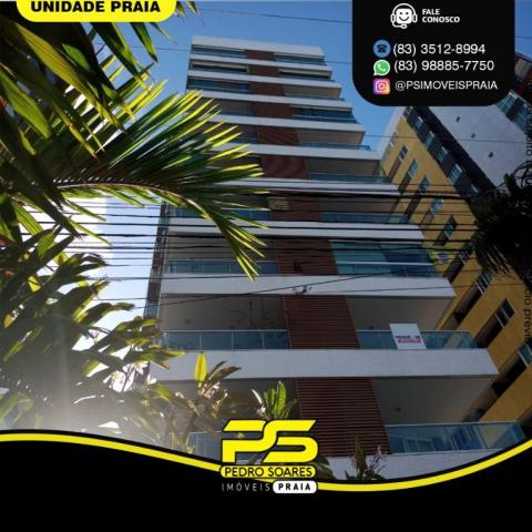 Apartamento com 3 dormitórios para alugar, 157 m² por R$ 6.500/mês - Tambaú - João Pessoa/