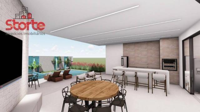 Casa estilo sobrado alto padrão em cond. fechado com 5 suítes à venda, 381m² por R$ 2.500. - Foto 2