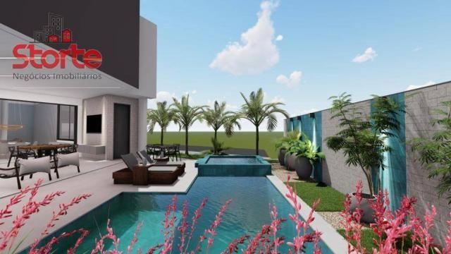 Casa estilo sobrado alto padrão em cond. fechado com 5 suítes à venda, 381m² por R$ 2.500. - Foto 4