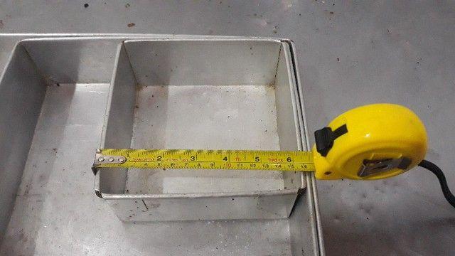 Conjunto de Formas De Bolo Quadrado Alumínio  -Redenção/Ce - Foto 6