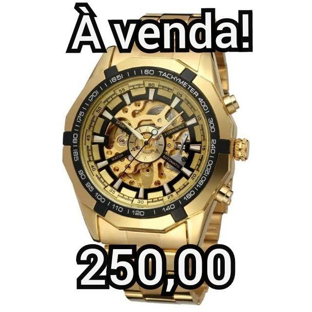 Relógio luxo mecânico automático