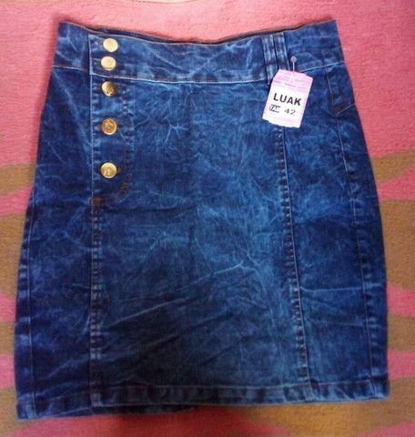 Saia jeans secretaria moda evangélica  - Foto 4