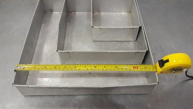 Conjunto de Formas De Bolo Quadrado Alumínio  -Redenção/Ce - Foto 5