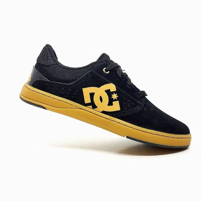 Tênis DC Shoes Plaza TC Couro Natural<br><br> - Foto 2