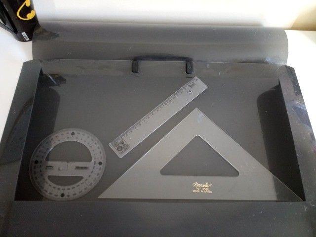 Compasso de Metal com Perna Articulada, Staedtler, 558 01, + Acessórios - Foto 5